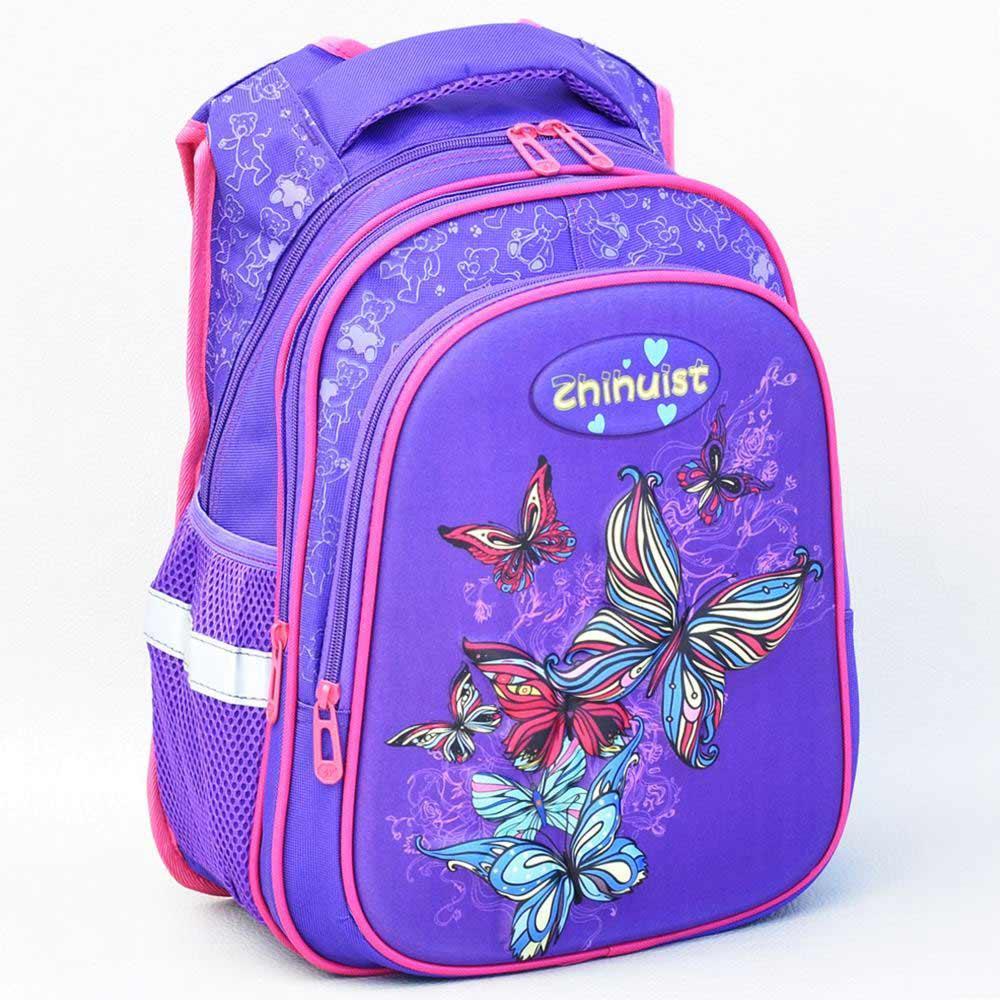 9194bc866bf Раница за детска градина 3Д за момиче с пеперуди лилава - Онлайн ...