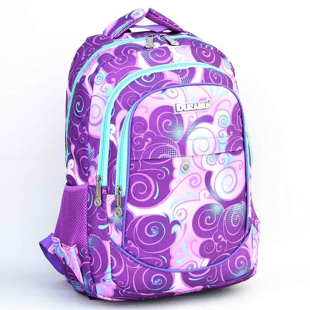 7c24315678a Ученическа раница за момиче, непромокаема, практична и удобна, лилав десен