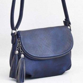 c6dc2b285ff Българска тъмно бежова дамска чанта от еко кожа комбинация от лак и ...